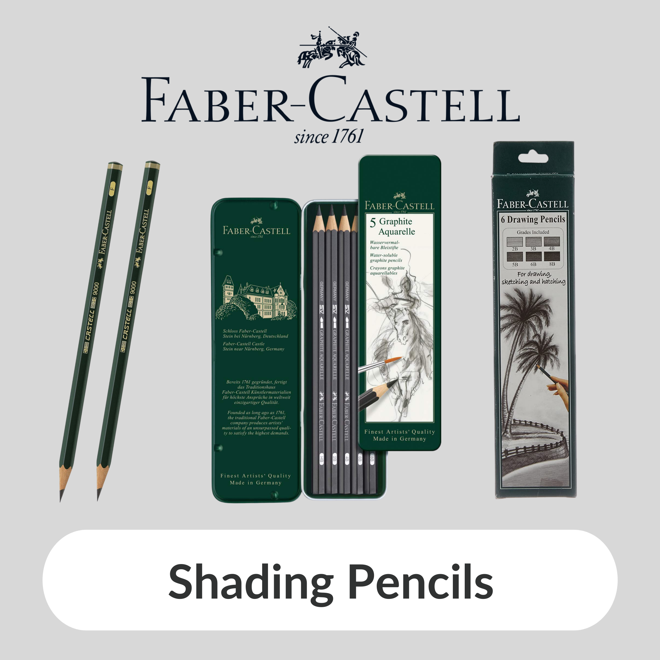 FaberCastell shading Pencils