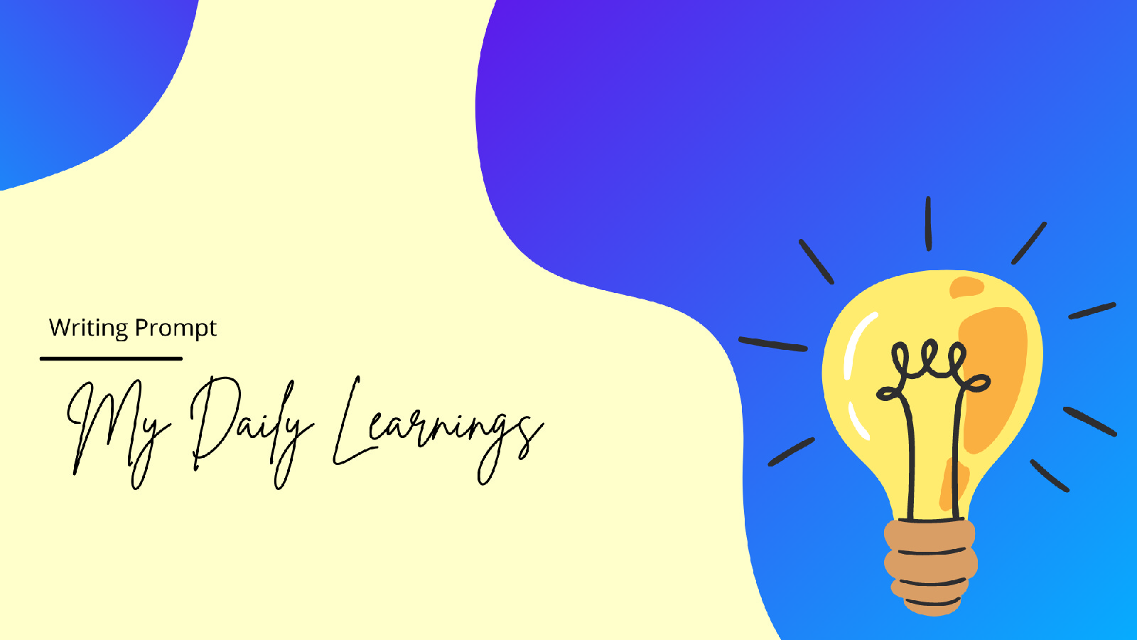 My Daily Learnings - Writing Challenge