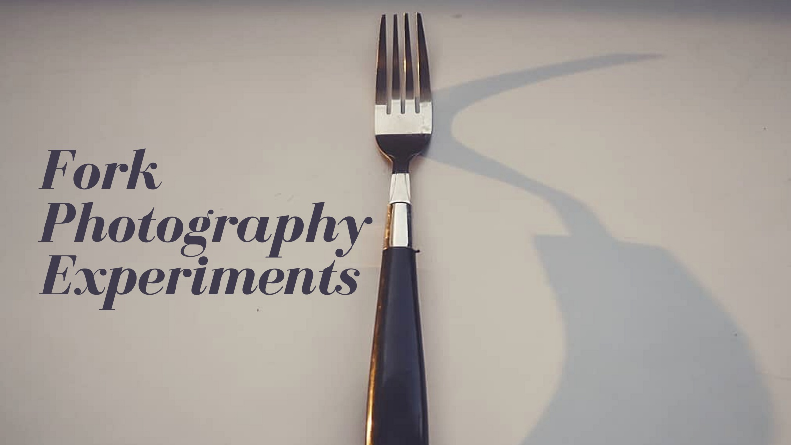 Fork Photography Experiments