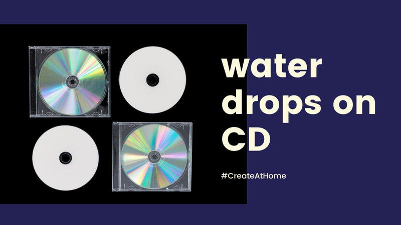 """Water Drops on CD"" - Photography Challenge"