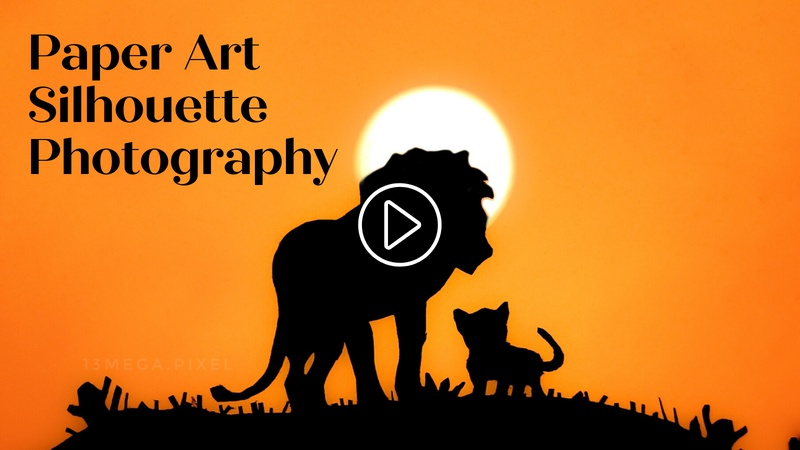 Paper Art Silhouette Photography Challenge