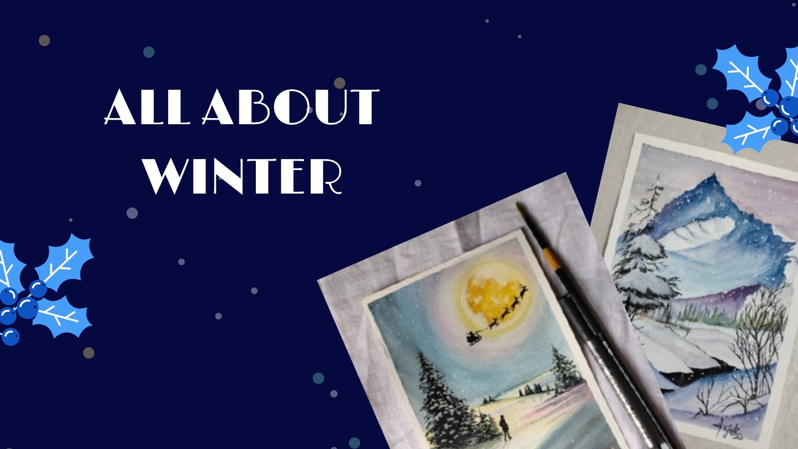 All about winter ❄ - Art Challenge
